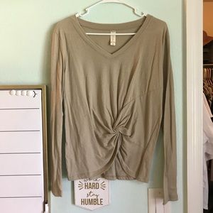 Altar'd State Twist Front Long Sleeve